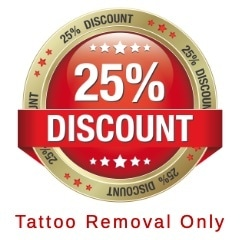 25% discount on first PicoSure laser tattoo removal treatment